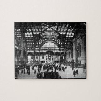 Penn Station New York City Vintage Railroad Puzzle