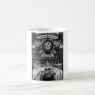 Penn Station New York Magic Lantern Slide Vintage Basic White Mug