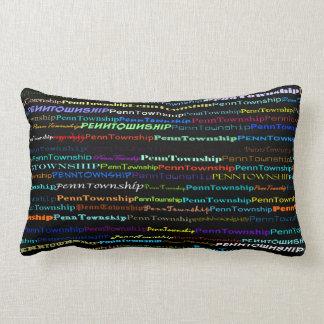 Penn Township Text Design I Lumbar Pillow