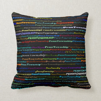 Penn Township Text Design I Throw Pillow
