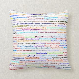 Penn Township Text Design II Throw Pillow