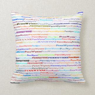 Penn Wynne Text Design II Throw Pillow
