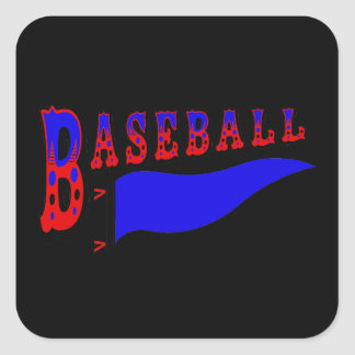 Pennant Baseball.png Square Sticker