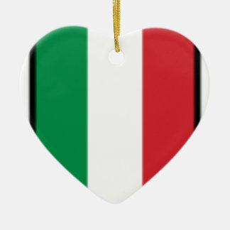 Pennant Of Italy, Italy flag Ceramic Heart Decoration