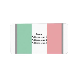 Pennant Of Italy, Italy flag Address Label