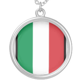 Pennant Of Italy, Italy flag Necklace