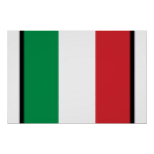 Pennant Of Italy, Italy flag Print