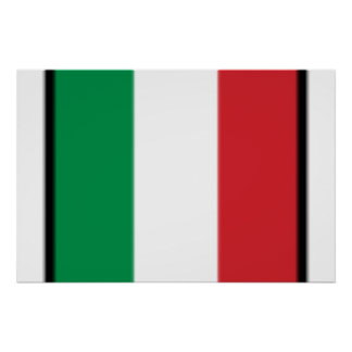 Pennant Of Italy Italy flag Print