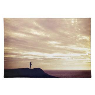 Pennard cliffs at sunset, Gower, Swansea Placemat