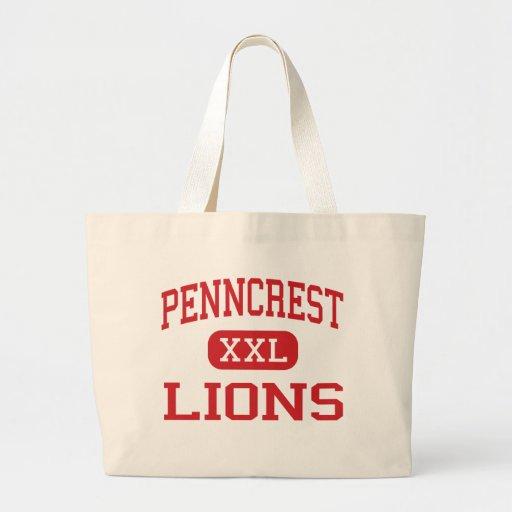 Penncrest - Lions - High - Media Pennsylvania Canvas Bag