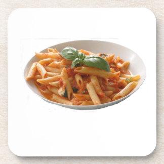 """Penne Pasta"" design square coasters"