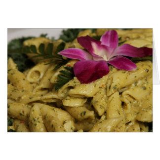 Penne Pasta Dish Greeting Card