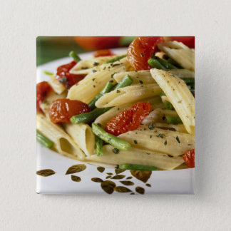 Penne with vegetables For use in USA only.) 15 Cm Square Badge
