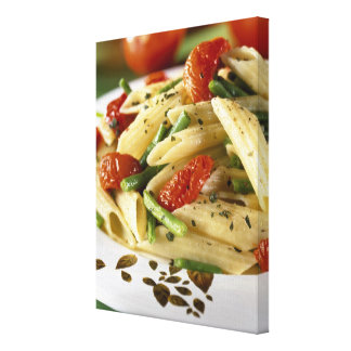 Penne with vegetables For use in USA only.) Gallery Wrapped Canvas