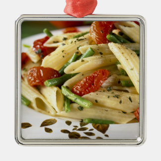 Penne with vegetables For use in USA only.) Christmas Ornament