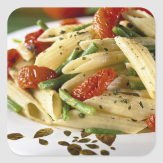 Penne with vegetables For use in USA only.) Square Sticker