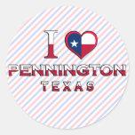 Pennington, Texas Classic Round Sticker