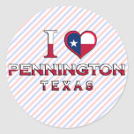 Pennington, Texas Round Sticker