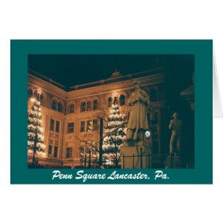 PENN'S SQUARE LANCASTER PA. GREETING CARD
