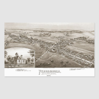Pennsburgh Montgomery Rectangular Sticker