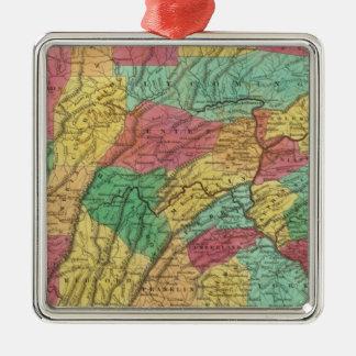 Pennsylvania 11 Silver-Colored square decoration
