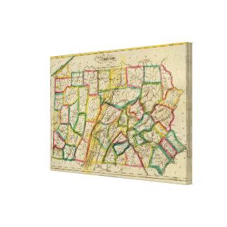 Pennsylvania 1818 Edition Gallery Wrap Canvas