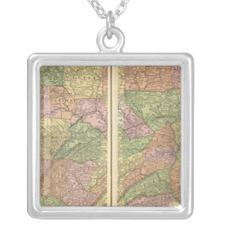 Pennsylvania 3 silver plated necklace