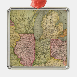 Pennsylvania 6 Silver-Colored square decoration