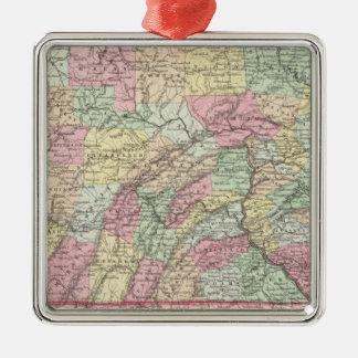 Pennsylvania 7 Silver-Colored square decoration