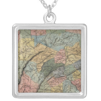Pennsylvania 7 silver plated necklace