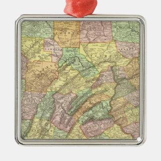 Pennsylvania 8 Silver-Colored square decoration