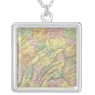 Pennsylvania 8 silver plated necklace