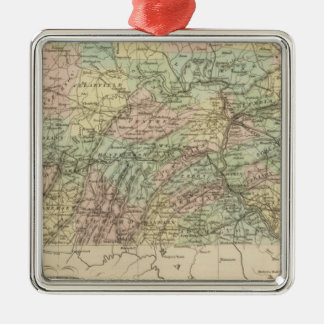Pennsylvania 9 Silver-Colored square decoration