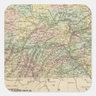 Pennsylvania 9 square sticker