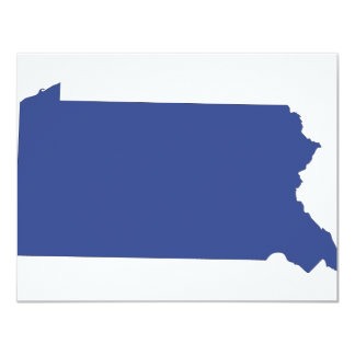 Pennsylvania -a BLUE state 11 Cm X 14 Cm Invitation Card