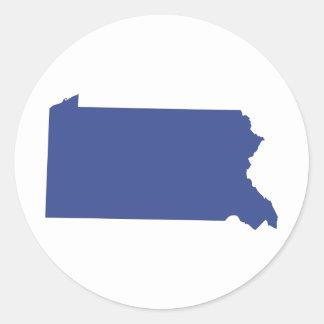 Pennsylvania -a BLUE state Classic Round Sticker