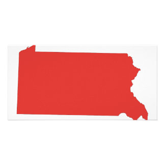 Pennsylvania -a RED state Personalized Photo Card
