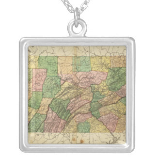 Pennsylvania and New Jersey 2 Silver Plated Necklace
