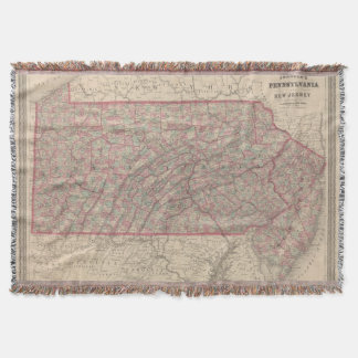 Pennsylvania and New Jersey 2 Throw Blanket