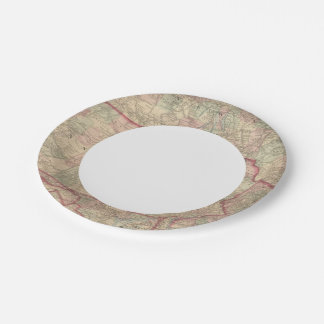 Pennsylvania and New Jersey 7 Inch Paper Plate