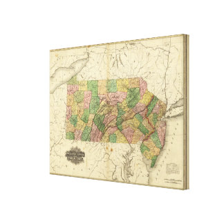 Pennsylvania and New Jersey Canvas Print