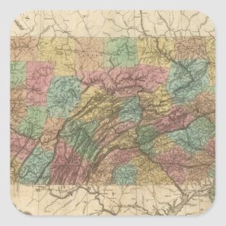 Pennsylvania and New Jersey Square Sticker