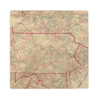 Pennsylvania and New Jersey Wood Coaster