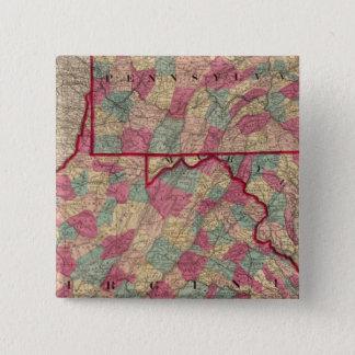 Pennsylvania and Virginia 15 Cm Square Badge