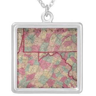 Pennsylvania and Virginia Silver Plated Necklace