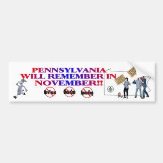 Pennsylvania - Anti ObamaCare, New Taxes, Spending Bumper Sticker