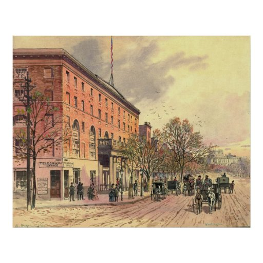 Pennsylvania Avenue and 6th Street 1860 Posters