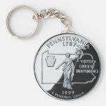 Pennsylvania Basic Round Button Key Ring
