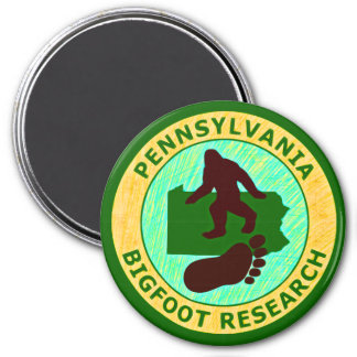 Pennsylvania Bigfoot Research 7.5 Cm Round Magnet