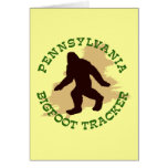 Pennsylvania Bigfoot Tracker Card